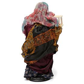Mujer con cesta de huevos y ganso para belén Nápoles estilo 700 de 30 cm de altura media s5