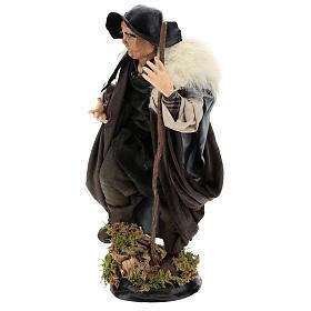 Shepherd with stick for Neapolitan nativity scene 30 cm s3