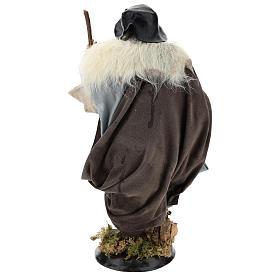 Shepherd with stick for Neapolitan nativity scene 30 cm s5
