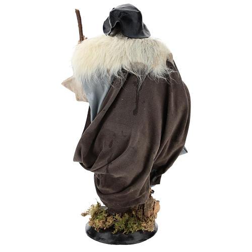 Shepherd with stick for Neapolitan nativity scene 30 cm 5