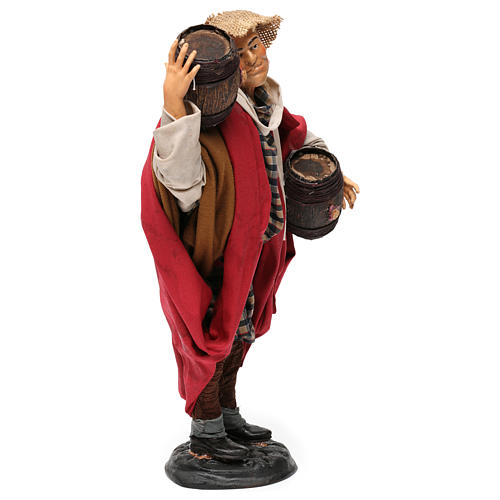Man with wine barrels 18th-century style Neapolitan Nativity Scene 30 cm 4