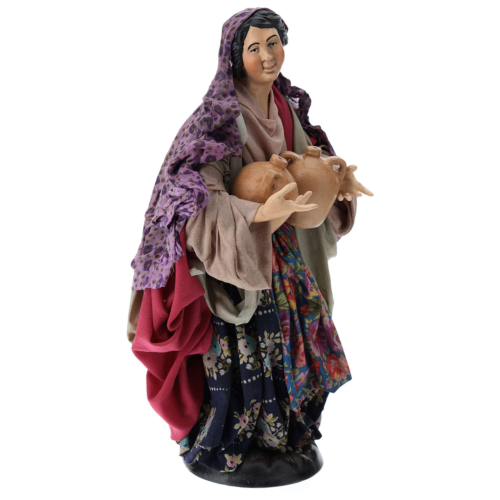 Woman with jars for Neapolitan nativity scene 30 cm 4