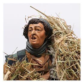 Shepherd with bundles of straw for Neapolitan nativity style 700 of 30 cm s2