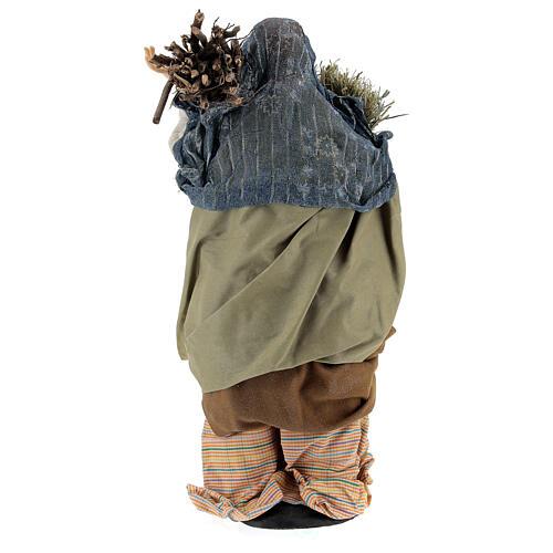 Mujer con fajina de paja para belén Nápoles estilo 700 de 30 cm de altura media 5
