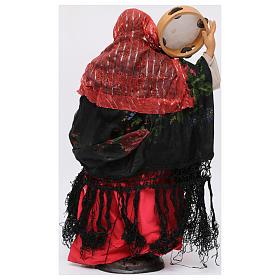 Danzatrice con tamburello per presepe Napoli stile '700 di 30 cm s5