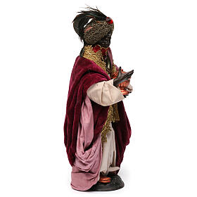 Dark skinned king (Magi) for Neapolitan nativity scene 30 cm s4