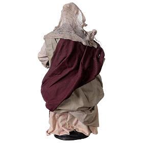 Mujer con cesta de pan para belén Nápoles estilo 700 de 30 cm de altura media s5