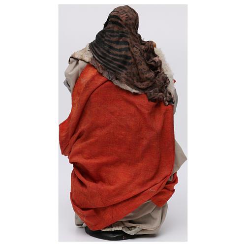 Donna con cesto di pane per presepe Napoli stile 700 di 30 cm 5