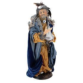 Light skinned king (Magi) for Neapolitan nativity scene 30 cm s4