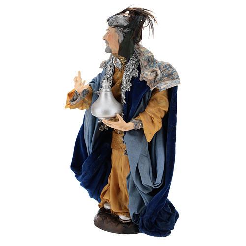 Light skinned king (Magi) for Neapolitan nativity scene 30 cm 3