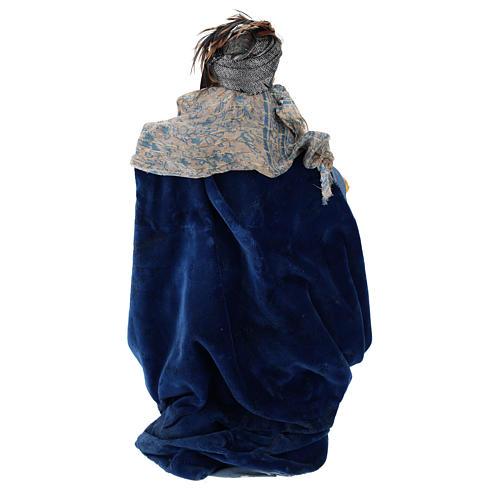Light skinned king (Magi) for Neapolitan nativity scene 30 cm 5