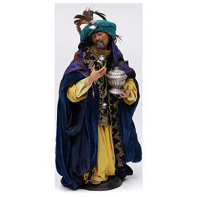 Re magio bianco in piedi per presepe Napoli stile 700 di 30 cm s1