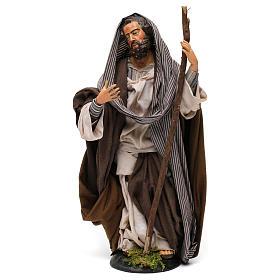 San Giuseppe in terracotta per presepe Napoli stile '700 di 30 cm s1