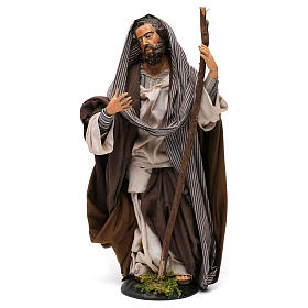 St Joseph in terracotta for Neapolitan nativity style 700 of 30 cm s1