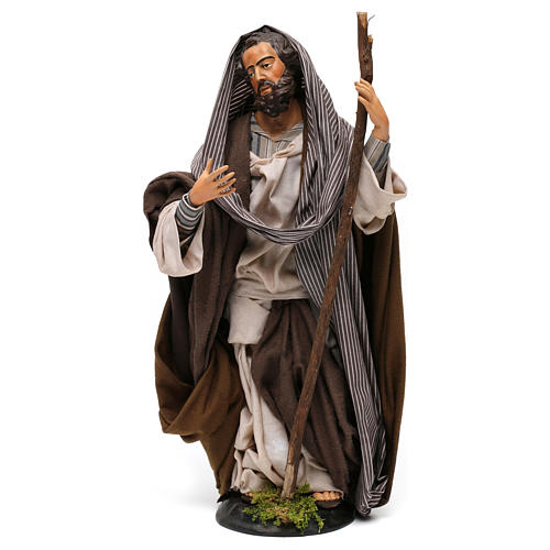St Joseph in terracotta for Neapolitan nativity style 700 of 30 cm 1