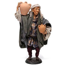 Uomo con anfore per presepe napoletano stile '700 di 30 cm s1