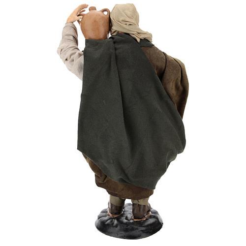 Uomo con anfore per presepe napoletano stile '700 di 30 cm 5