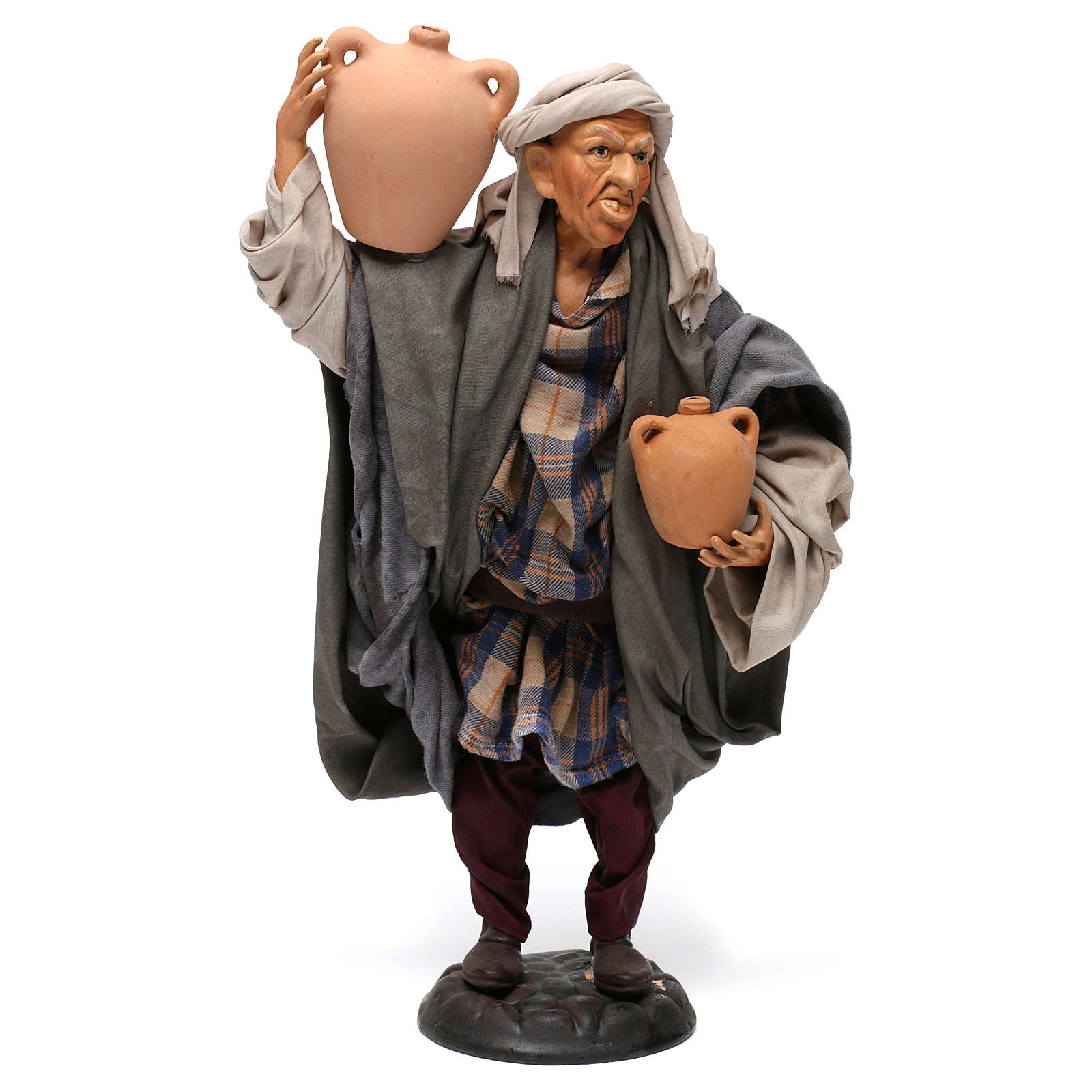Man with amphorae for Neapolitan nativity style 700s of 30 cm 4