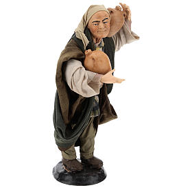 Man with amphorae for Neapolitan nativity style 700s of 30 cm s4