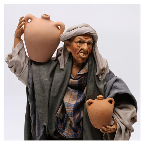 Man with amphorae for Neapolitan nativity style 700s of 30 cm 2
