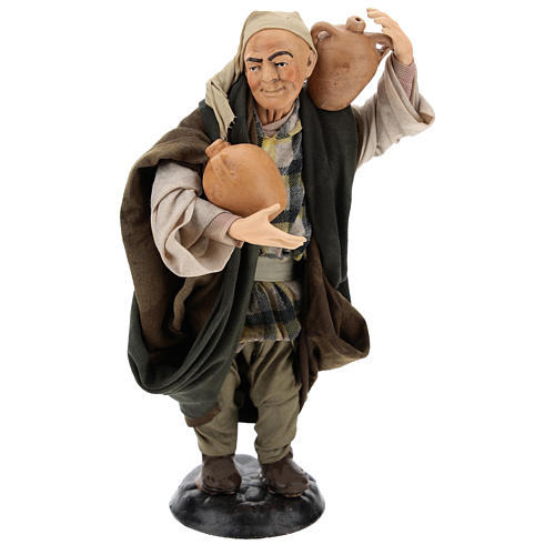 Man with amphorae for Neapolitan nativity style 700s of 30 cm 1