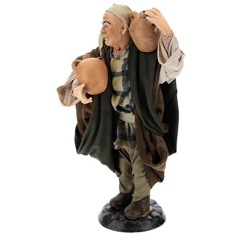 Man with amphorae for Neapolitan nativity style 700s of 30 cm 3
