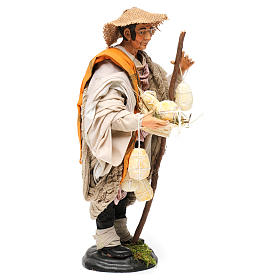 Shepherd with caciottas 18th-century style Neapolitan Nativity Scene 30 cm s4