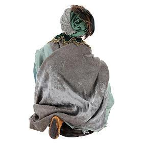 Rey mago sentado para belén napolitano estilo 700 de 30 cm de altura media s5