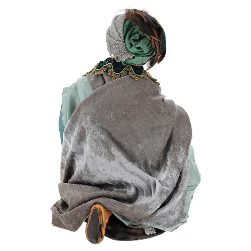 Rey mago sentado para belén napolitano estilo 700 de 30 cm de altura media 5