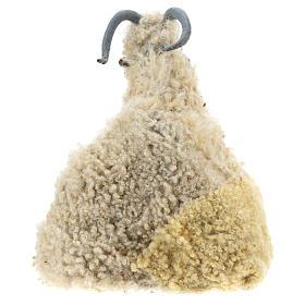Caprone con pecorella per presepe napoletano stile '700 di 35 cm s4