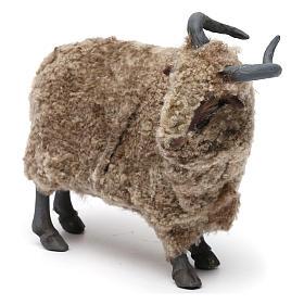 Caprone con lana per presepe napoletano stile '700 di 35 cm s2