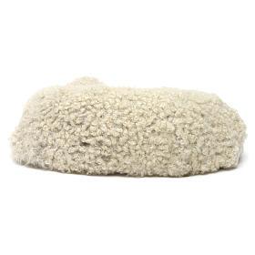 Pecora sdraiata con lana per presepe Napoli stile 700 di 35 cm s4