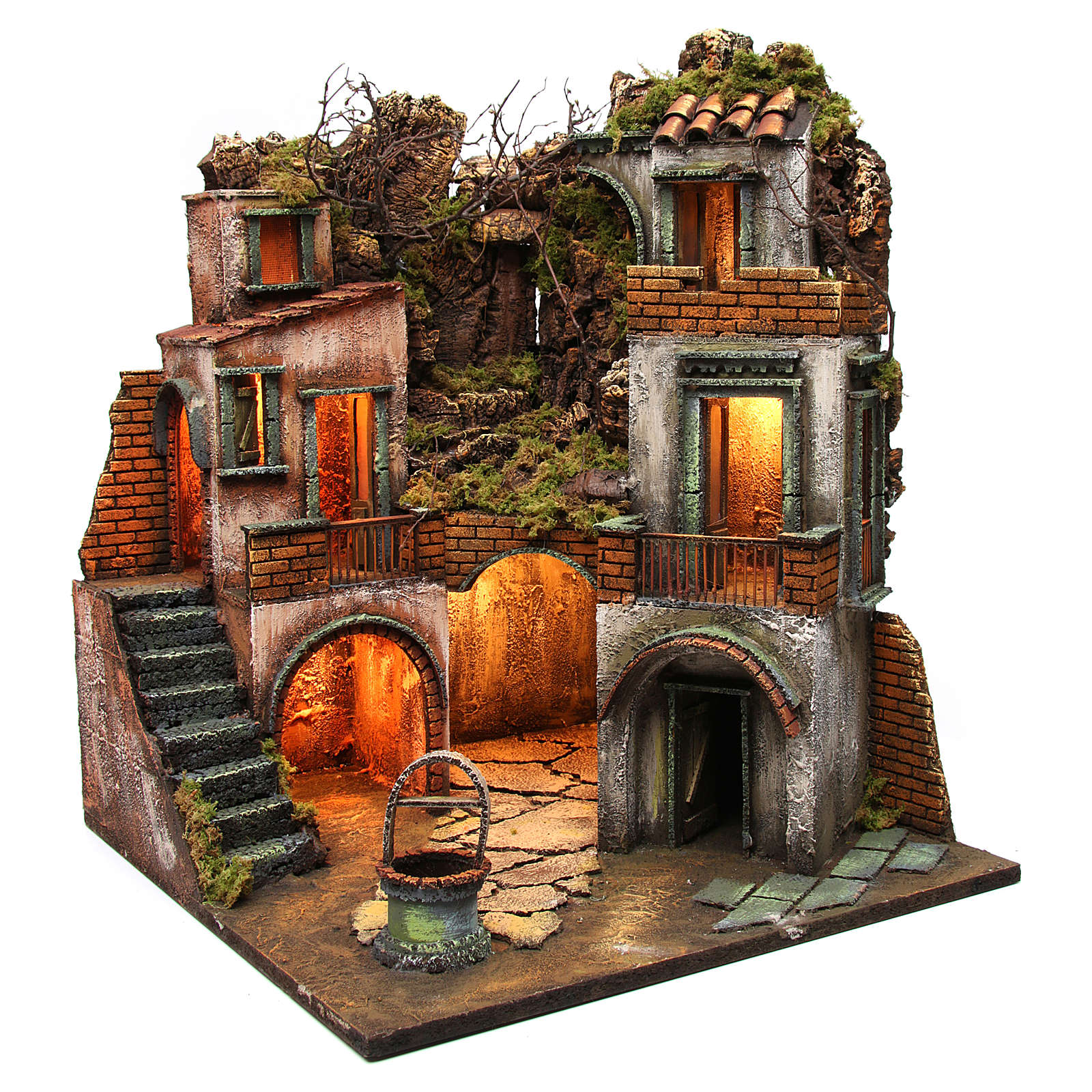 Farmhouse with well for Neapolitan Nativity Scene 60x50x50  4