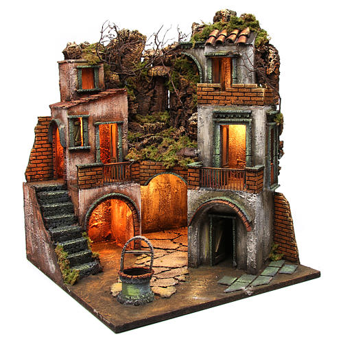 Farmhouse with well for Neapolitan Nativity Scene 60x50x50  3
