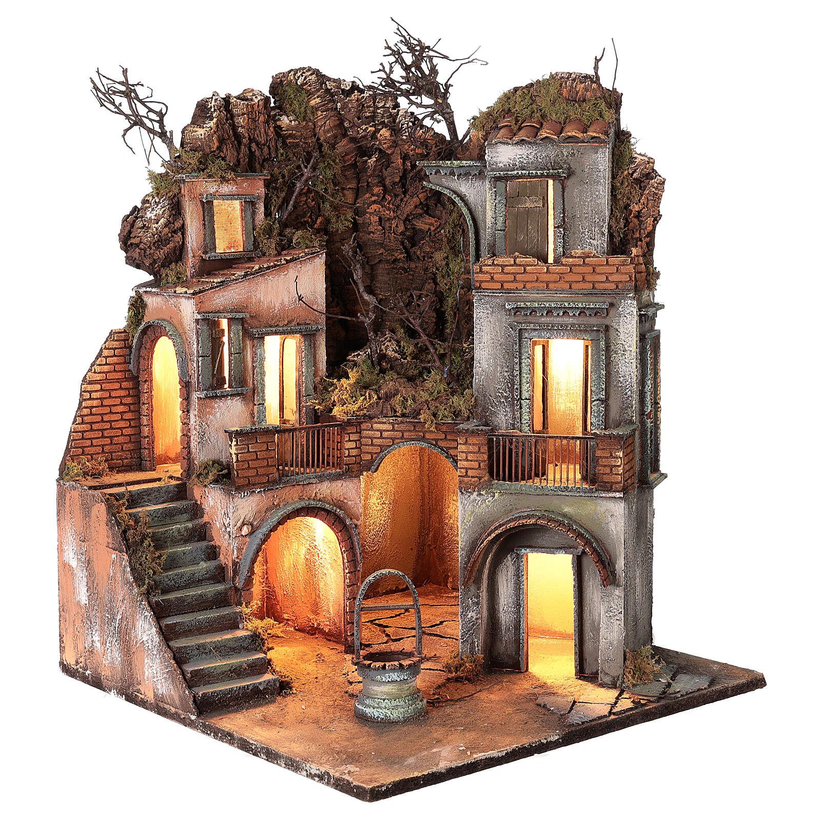 Cottage avec puits pour crèche napolitaine 60x50x50 cm 4