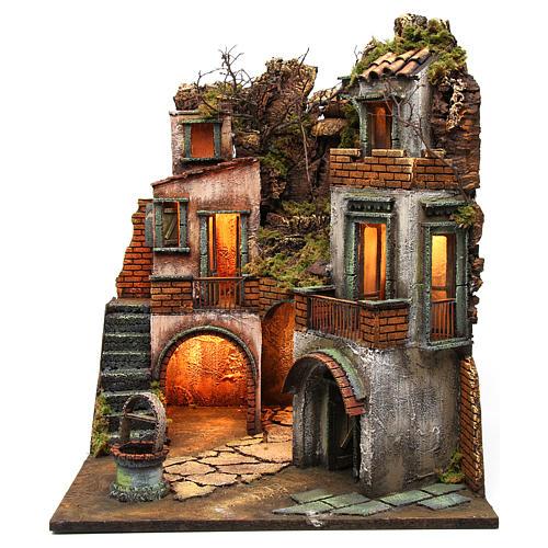 Cottage avec puits pour crèche napolitaine 60x50x50 cm 1