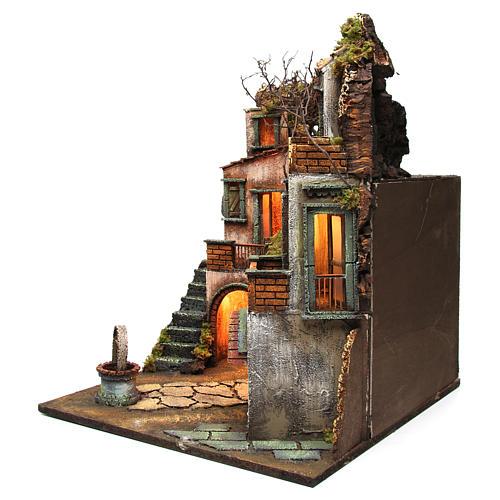 Cottage avec puits pour crèche napolitaine 60x50x50 cm 2