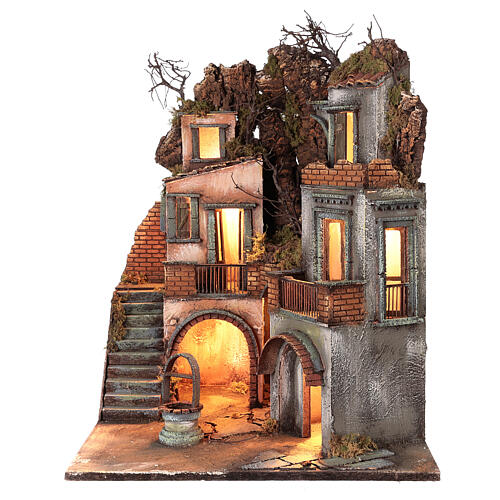Cottage avec puits pour crèche napolitaine 60x50x50 cm 3