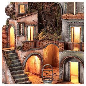 Neapolitan Nativity Scene setting farmhouse with well 60x50x50 cm s2