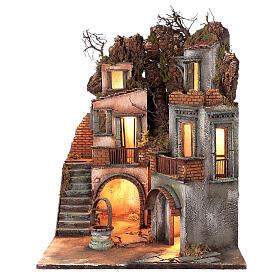 Neapolitan Nativity Scene setting farmhouse with well 60x50x50 cm s3