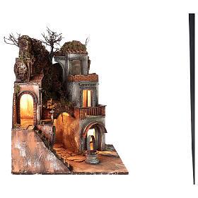 Neapolitan Nativity Scene setting farmhouse with well 60x50x50 cm s4