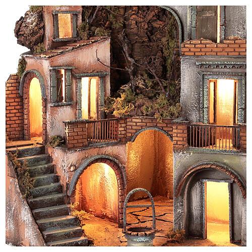 Neapolitan Nativity Scene setting farmhouse with well 60x50x50 cm 2
