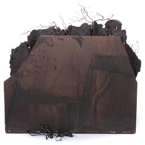 Aldeia Antiga com Cachoeira e Moinho para Presépio Estilo Napolitano 70,5x80,5x60 cm 4
