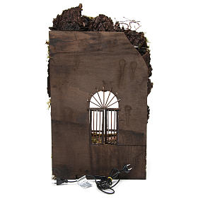 Ambientazione presepe napoletano ingresso palazzo con fontana 70x40x40 cm s4