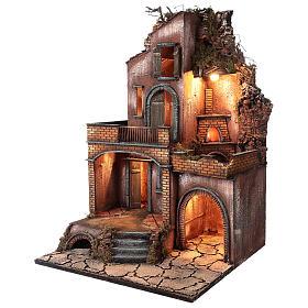 Caserío con horno y terrazas para belén 80x50x50 cm estilo napolitano 700 s4