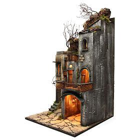 Borgo per presepe 85x50x50 cm in stile napoletano del 700 s2