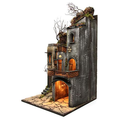 Borgo per presepe 85x50x50 cm in stile napoletano del 700 2