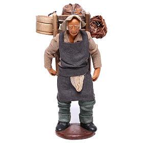 Hombre con barril de vino para belén napolitano 12 cm de altura media s1