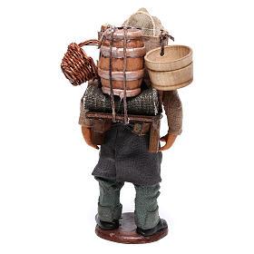 Hombre con barril de vino para belén napolitano 12 cm de altura media s5