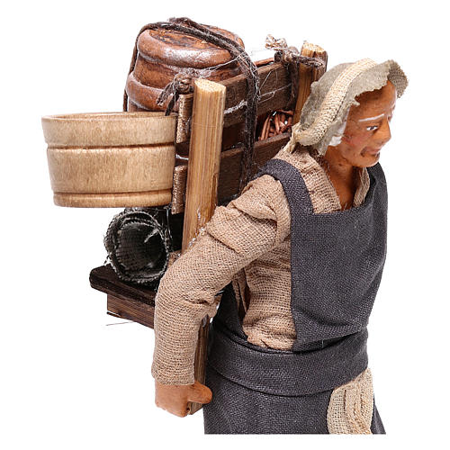 Man with barrel for Neapolitan Nativity Scene 12 cm 2